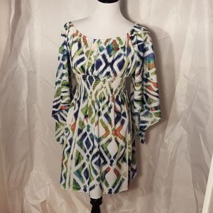 Cute boho type dress with large Bell sleeves